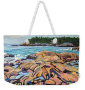 Salmon Rocks Weekender Tote Bag