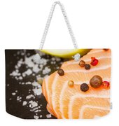 Salmon Steak And Spices Weekender Tote Bag