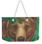 Salmonberry Bear Weekender Tote Bag