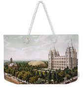Salt Lake City Weekender Tote Bag