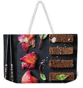 Salted Salmon With Beetroot  Weekender Tote Bag