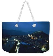 Salzburg, Austria, Night View Weekender Tote Bag