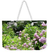 Pink Hydrangeas In Mirabell Garden Weekender Tote Bag