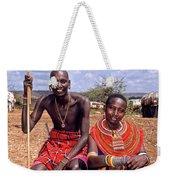 Samburu Couple Weekender Tote Bag