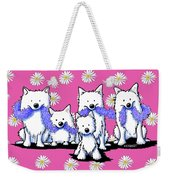 Sams And Westie Weekender Tote Bag