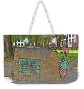 Samuel Adams Gravestone At Granary Burying Ground In  Boston-massachusetts Weekender Tote Bag