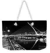 Samuel Beckett Bridge 5 Bw Weekender Tote Bag