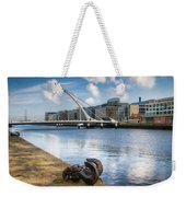 Samuel Beckett Bridge, Dublin, Ireland Weekender Tote Bag