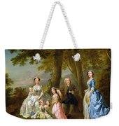 Samuel Richardson Seated With His Family Weekender Tote Bag