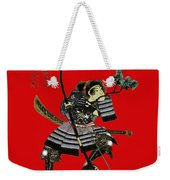 Samurai With Bow Weekender Tote Bag