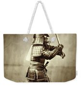 Samurai With Raised Sword Weekender Tote Bag by F Beato
