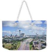 San Antonio City View -color Canvas Print Weekender Tote Bag
