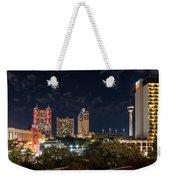 San Antonio Cityscape At Night Weekender Tote Bag