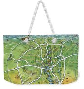 San Antonio Texas Cartoon Map Weekender Tote Bag