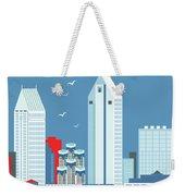 San Diego California Vertical Skyline Weekender Tote Bag