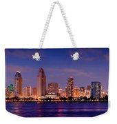 San Diego Skyline At Dusk Weekender Tote Bag