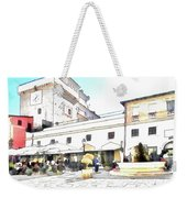 San Felice Circeo Bar And Fountain In The  Square Weekender Tote Bag
