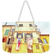 San Felice Circeo Building With The Put Clothes Weekender Tote Bag