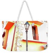 San Felice Circeo Chairs And Street Lamp Weekender Tote Bag