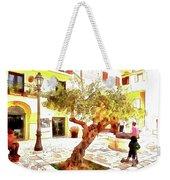 San Felice Circeo Olive Tree In The Square Weekender Tote Bag