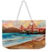 San Francisc Bridge Weekender Tote Bag