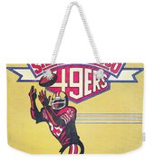 San Francisco 49ers Vintage Program Weekender Tote Bag