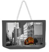 San Francisco - Red Cable Car Weekender Tote Bag