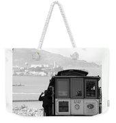 San Francisco Cable Car With Alcatraz Weekender Tote Bag