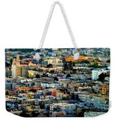 San Francisco California Scenic  Rooftop Landscape Weekender Tote Bag