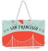 San Francisco California Vertical Scene - Bird In Plane Over San Francisco Weekender Tote Bag