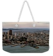 San Francisco City Skyline Panorama At Sunset Aerial Weekender Tote Bag