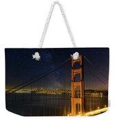 San Francisco City Skyline Through Golden Gate Bridge Weekender Tote Bag
