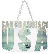 San Francisco Downtown Cityscape, California, Usa  Weekender Tote Bag