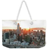 San Francisco Financial District Skyline Weekender Tote Bag