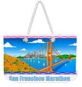 San Francisco Marathon Panorama Weekender Tote Bag