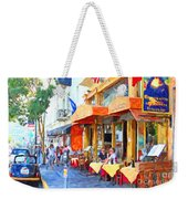 San Francisco North Beach Outdoor Dining Weekender Tote Bag