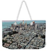 San Francisco Skyline And Coit Tower Weekender Tote Bag