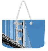 San Francisco Skyline Golden Gate Bridge 2 - Slate Blue Weekender Tote Bag
