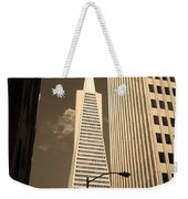 San Francisco - Transamerica Pyramid Sepia Weekender Tote Bag