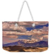 Sand Dunes - Mountains - Snow- Clouds And Shadows Weekender Tote Bag