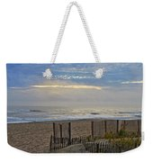 Sand Fence And Beach Weekender Tote Bag