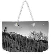Dune Fences - Grayscale Weekender Tote Bag