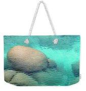 Sand Harbor Ripples Weekender Tote Bag