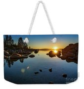 Sand Harbor Sunset Weekender Tote Bag
