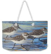 Sand Pipers Weekender Tote Bag