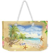 Sand Sea Sunshine On Tropical Beach Shores Weekender Tote Bag