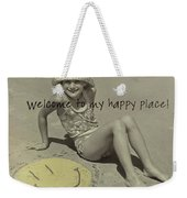 Sand Smile Quote Weekender Tote Bag
