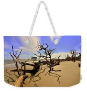 Sand Sun Beach And Little Blue Weekender Tote Bag by Lisa Wooten