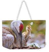 Sandhill Crane 3 Weekender Tote Bag