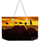 Sandhill Crane At Sunset Weekender Tote Bag